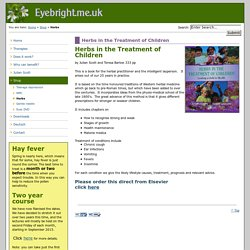 Eyebright Acupuncture : Herbs