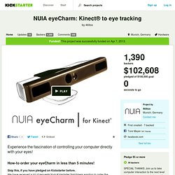 NUIA eyeCharm: Kinect® to eye tracking by 4tiitoo