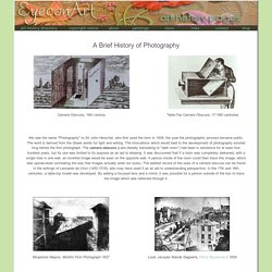 Eyeconart: History of Photography