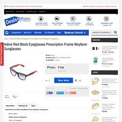 Adine Red Black Eyeglasses Prescription Frame Wayfarer Sunglasses