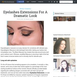 Eyelashes Extensions For A Dramatic Look