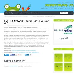 28/10/2015 Eyes Of Network : sorties de la version 4.2