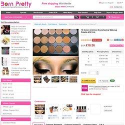 €7.96 18 Color Eyeshadow Makeup Palette Makeup #5018-4 - BornPrettyStore.com