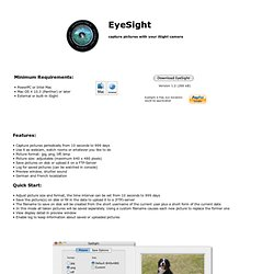 EyeSight - capture pictures with your iSight camera