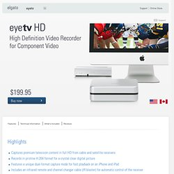EyeTV HD - High Definition Video Recorder for Component Video