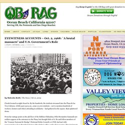 Eyewitness Accounts– Oct. 2, 1968: `A brutal massacre' and U.S. Government's Role