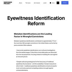 Eyewitness Identification Reform - Innocence Project