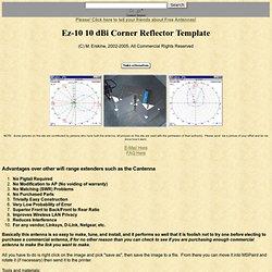 Ez-10 Corner Reflector Templat