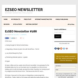 EzSEO Newsletter #288