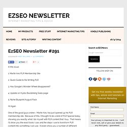 EzSEO Newsletter #291