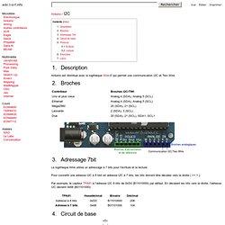 Ressources pour l'interactivité | Arduino / I2C
