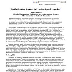 f0000012 Scaffolding for Success in Problem-Based Learning