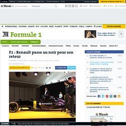 F1: Renault passe au noir pour son retour