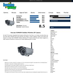 Foscam F18904W Outdoor Wireless IP Camera Review - www.impulsegamer.com -
