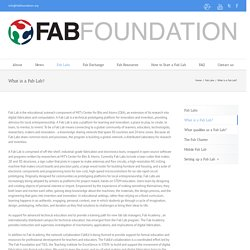 Fab Foundation – What is a Fab Lab?