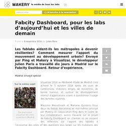 Fabcity Dashboard, pour les labs d'aujourd'hui et les villes de demain