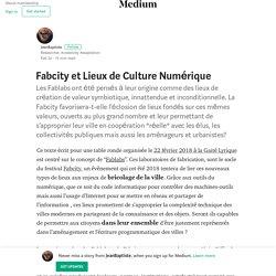Fabcity et Lieux de Culture Numérique – JeanBaptiste