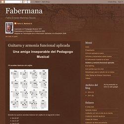 Fabermana: Guitarra y armonía funcional aplicada