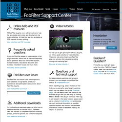 Support - Online Help, Manual, Frequency Asked Questions and User Forum