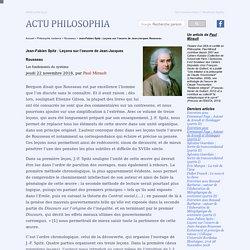 Jean-Fabien Spitz : Leçons sur l'oeuvre de Jean-Jacques Rousseau