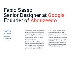 Fabio Sasso - Graphic and Web Designer