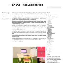 Un site utilisant Réseau blogs de l'ENSCI