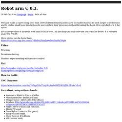 FabLab RUC: Robot arm v. 0.3.