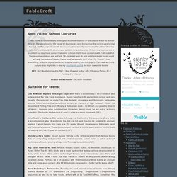 FableCroft » Spec Fic for School Libraries