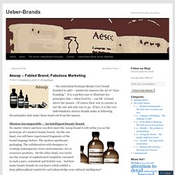 Aesop – Fabled Brand, Fabulous Marketing