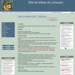 """Projet """"du fabliau à la BD"""" - 5e/2nde pro. - Site de lettres du Limousin"""