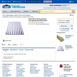 Shop Fabral 96-in 30-Gauge Plain Corrugated Steel Roof Panel at Lowes