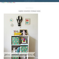 Fabric Covered Storage Bins