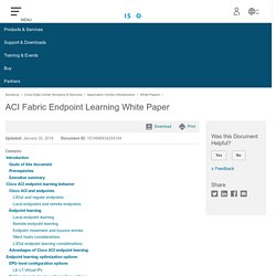 ACI Fabric Endpoint Learning White Paper