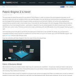 Fabric Engine 2 is here! - Fabric