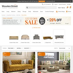 Beautiful Fabric Sofas from Wooden Street