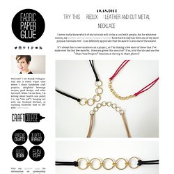 Try This [Redux]: Leather and Cut Metal Necklace