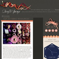Design*Sponge » Blog Archive » top 20 fabric resources