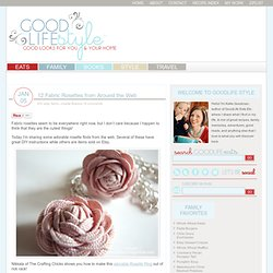 Fabric Rosettes from Around the Web