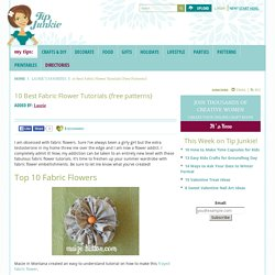 10 Best Fabric Flower Tutorials {free patterns