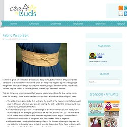 Fabric Wrap Belt | Craft Buds