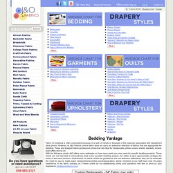 Yardage Charts - J&O Fabrics