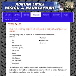 Easily Fabricable Sheet Metal in Brisbane - Adrian Little Manufacture
