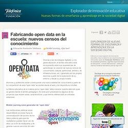 Fabricando open data en la escuela: nuevos censos del conocimiento