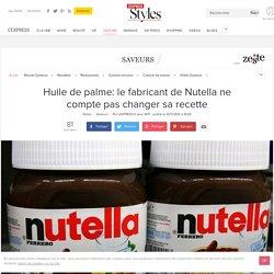 Huile de palme: le fabricant de Nutella ne compte pas changer sa recette - L'Express Styles