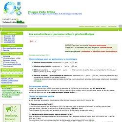EVO: dossier fabricant panneaux solaire photovoltaique