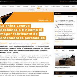La china Lenovo desbanca a HP como el mayor fabricante de ordenadores personales