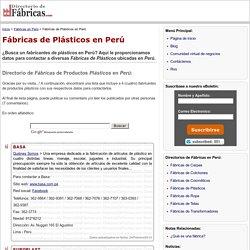 FÁBRICAS DE PLÁSTICOS EN PERÚ