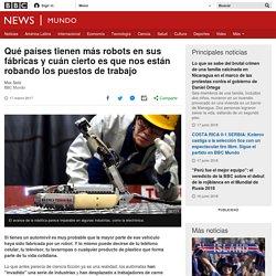 Qué países tienen más robots en sus fábricas y cuán cierto es que nos están robando los puestos de trabajo - BBC News Mundo