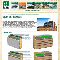Pre-fabricated timber frame panels and element houses
