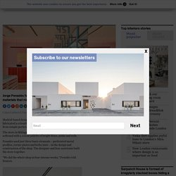 Jorge Penadés fabricates Camper store from perforated metal profiles